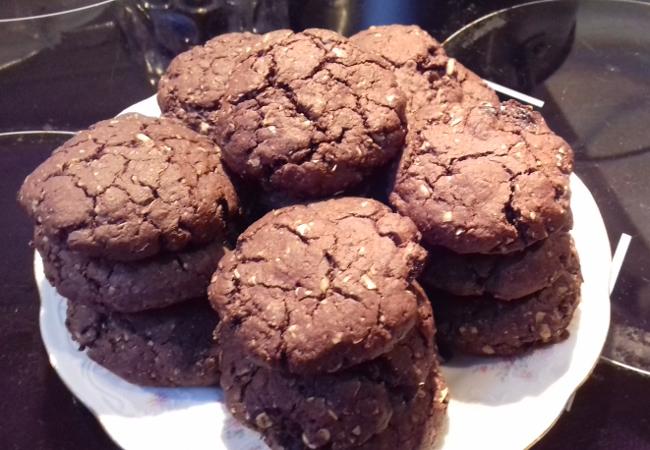 csokis zabpehely keksz