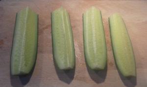 tzatziki uborka előkészítése