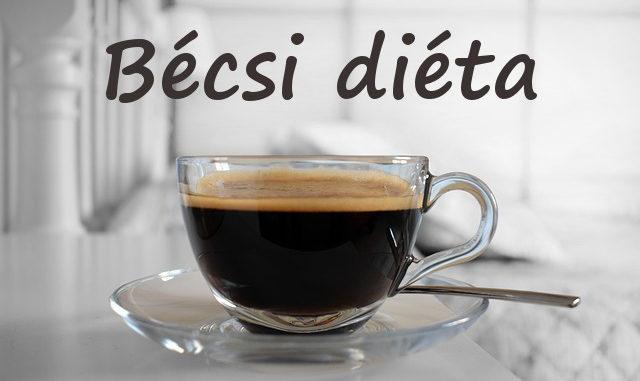 bécsi diéta leírás, mintaétrend
