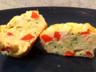 diétás tojás muffin zöldségekkel