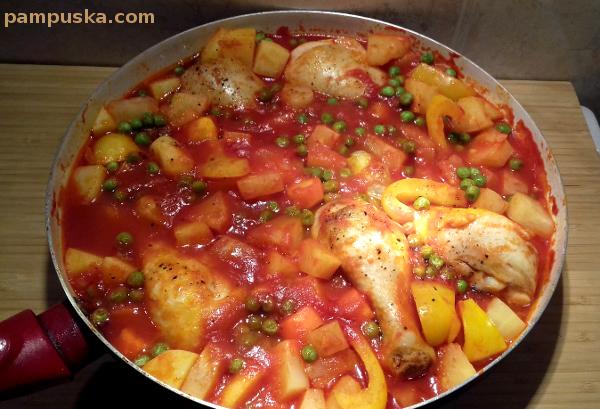 ananászos csirke egytál