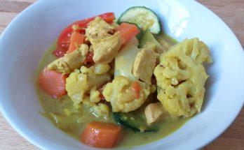 zöldséges currys csirke