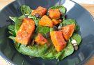 spenótos sütőtök saláta